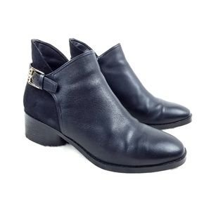 Cole Haan Black Suede + Leather Booties size 8.5